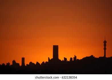 Johannesburg Sunset Skyline