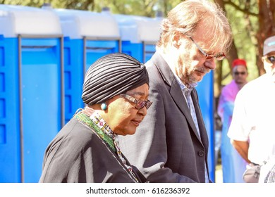 Johannesburg,South Africa March 29,2017 , Winnie Madikizela Mandela,  Mother of the Nation arriving at Ahmed Kathrada funeral