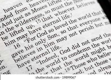John 3:16 in the Christian Bible, For God so loved the world...