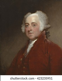 John Adams, by Gilbert Stuart, c. 1800-15, American painting, oil on canvas. Painted when the second president was in his eighties, Stuart copied it from a preliminary portrait made of Adams during h