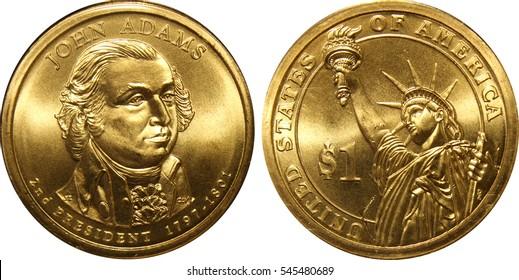 John Adams President Dollar Coin Image