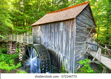 John Cable Grist Mill in the Cades Cove area of the Great Smoky Mountain National Park. This working grist mill dates back to about 1867.