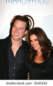 John Corbett and Cindy Crawford at the opening of the Moonstone Bar ans Sweetwater Saloon, Hard Rock Hotel San Diego.