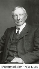 John D. Rockefeller, at the beginning of his 40 year 'retirement' in 1900. Studio portrait by Oscar White