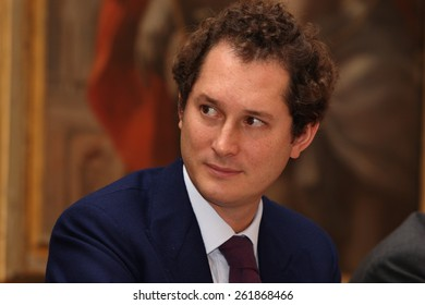 """John Elkann at Montecassino Abbey on 4/11/2010 for the conference """"Generazione net o Neet generation?"""""""
