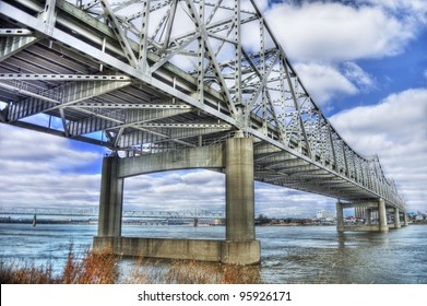 John F Kennedy Memorial Bridge in Louisville, Kentucky
