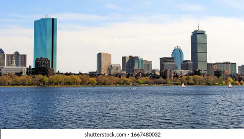 John Hancock and Prudential Towers along the Charles River.
