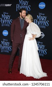 John Krasinski and Emily Blunt at the World premiere of Disney's 'Mary Poppins Returns' held at the Dolby Theatre in Hollywood, USA on November 29, 2018.