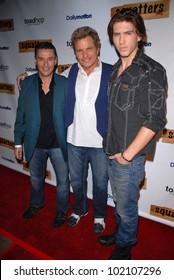 "John Mariano, Martin Kove and Jesse Kove at the Red Carpet Launch Party for ""Squatters,"" the new web series,  Capitol City, Hollywood, CA. 06-04-10"