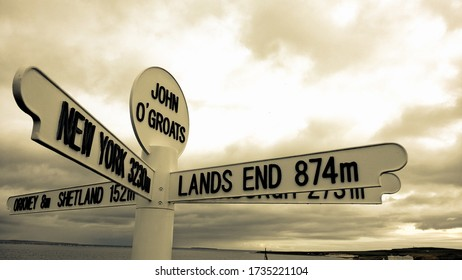 John O Groats at the top of the UK