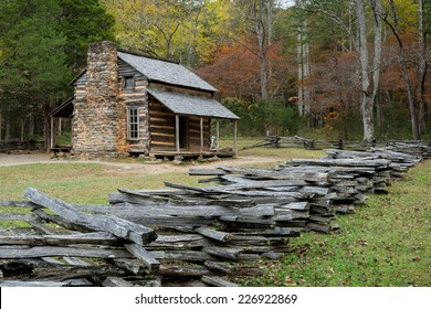The John Oliver Place in Cades Cove of the Great Smoky Mountains National Park, Tennessee