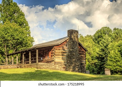 John Oliver's cabin at Cades Cove in the Great Smoky Mountains National Park was built in 1822.  This log home is now the visitor information center for Cades Cove.