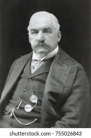 John Pierpont Morgan, American banker and financier, c. 1905. He provided capital to the steel and electric industries and functioned as U.S. central banker during the Panic of 1907