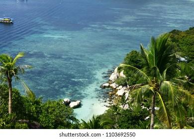 John Suwan Viewpoint Koh Tao Thailand beautiful outlook, amazing nature, Shark bay, chalok baan kao bay