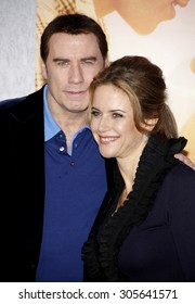 John Travolta and Kelly Preston at the Los Angeles premiere of 'The Last Song' held at the ArcLight Cinemas in Hollywood, USA on March 25, 2010.