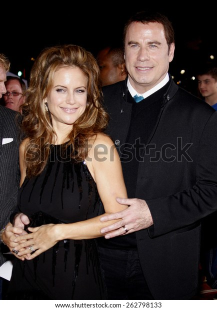 John Travolta Kelly Preston World Premiere Celebrities Stock Image 262798133