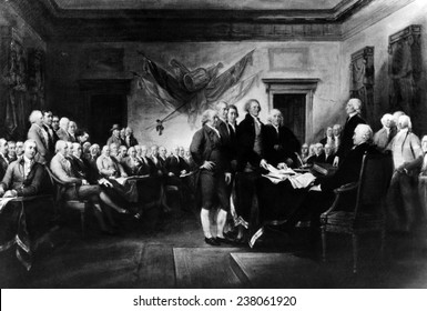 John Trumbull's 'Declaration of Independence' commissioned in 1817