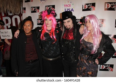 Johnnie Saiko, Constance Hall, Cleeve Hall and Alora Hall at the Monster Man Costume Ball, Cabo Wabo, Hollywood, CA 10-16-13
