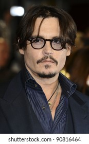 "Johnny Depp arriving for the premiere of ""Rum Diary"" at the Odeon Kensington cinema, London. 03/11/2011 Picture by: Steve Vas / Featureflash"