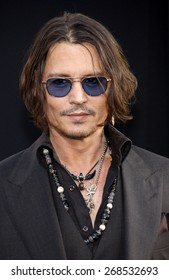 Johnny Depp at the Los Angeles premiere of 'Dark Shadows' held at the Grauman's Chinese Theatre in Hollywood on May 7, 2012.