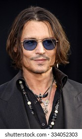 Johnny Depp at the Los Angeles premiere of 'Dark Shadows' held at the Grauman's Chinese Theater in Hollywood, USA on May 7, 2012.