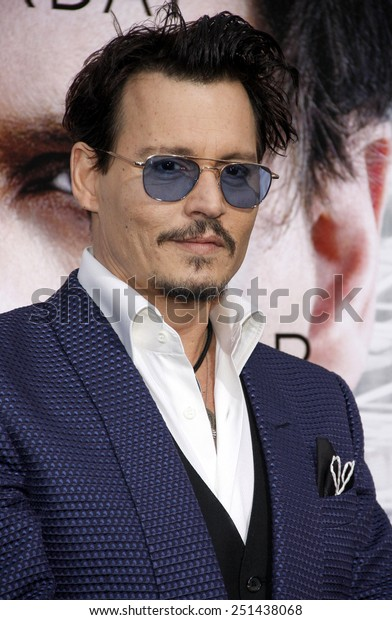 """Johnny Depp at the Los Angeles premiere of """"Transcendence"""" held at the Regency Bruin Theatre in Los Angeles, California, United States on April 10, 2014."""