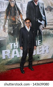 "Johnny Depp at ""The Lone Ranger"" Premiere, Disney's California Adventure, Anaheim, CA 06-22-13"