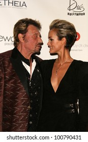Johnny Hallyday, Laeticia Hallyday at the 6th Annual Pink Party, W Hotel, Hollywood, CA. 09-25-10