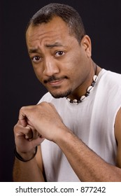 Johnny R expressions - Male African American in studio