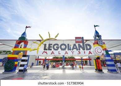 JOHOR BAHARU, MALAYSIA - 6 November 2016 Legoland Malaysia Resort is Malaysia's first international theme park that has opened in Iskandar Puteri Nusajaya Johor, Malaysia on 2012 and the first in Asia
