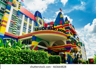 JOHOR BAHARU, MALAYSIA - JUNE 12 2016 Legoland Theme Park Malaysia Resort. Opened in 2012, Legoland Malaysia was the first international amusement park in Nusajaya and the first Legoland in Asia.
