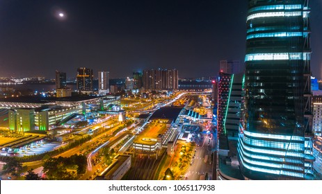 JOHOR BAHRU - 3/04/2018 : JOHOR BAHRU NIGHT CITYSCAPE VIEW. THIS PHOTO SHOW THE BEAUTIFUL SCENE OF JOHOR BAHRU CITY AT NIGHT.