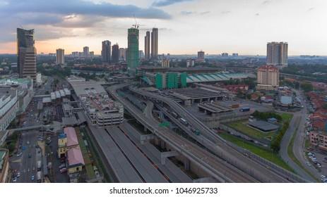 JOHOR BAHRU CITY - CITYSCAPE OF JOHOR BAHRU - AERIAL VIEW JOHOR BAHRU TOWN