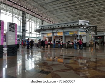 Johor Bahru, Johor. December 30, 2017. The interior of Johor Bahru Sentral (JB Sentral), part of Southern Integrated Gateway connected with CIQ complex and City Square Shopping Center
