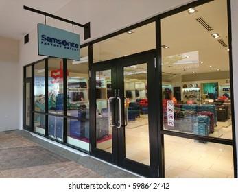 JOHOR BAHRU, MALAYSIA- 10 Mac 2017: Samsonite Factory Outlet store in Johor Premium Outlet,  Johor Bahru,  Malaysia