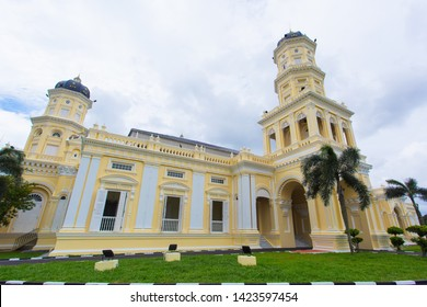 Johor Bahru, Malaysia - Jun 13, 2019 :  Masjid Sultan Abu Bakar, Johor Bahru one of the famous Mosque and  Landmark also tourism attraction when visiting Johor.