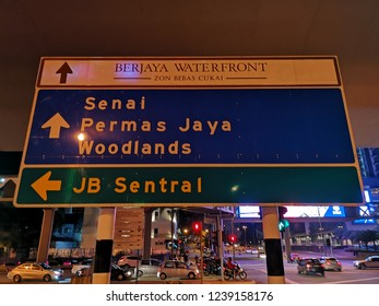 JOHOR BAHRU, JOHOR, MALAYSIA - NOVEMBER 16, 2018: Street scene/view of Johor Bahru City, Johor, Malaysia.