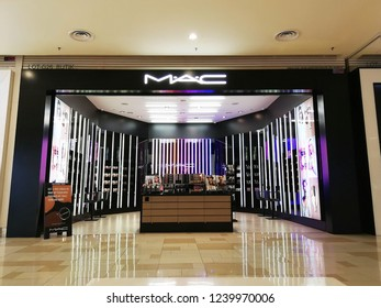 Johor Bahru, Johor, Malaysia. October 18, 2018. Extremely grand design of the MAC cosmetics and beauty store at the JB Komtar shopping mall.