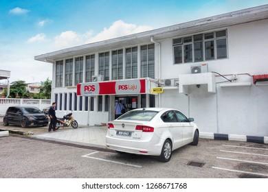 JOHOR BAHRU, JOHOR, MALAYSIA - OCTOBER 18, 2018: Post Malaysia in Johor Bahru City, Johor, Malaysia.