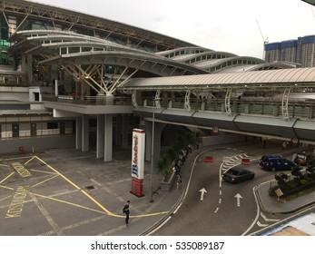 JOHOR BAHRU,JOHOR-DECEMBER 12 2016:The CIQ is the main entrance gate to Singapore.