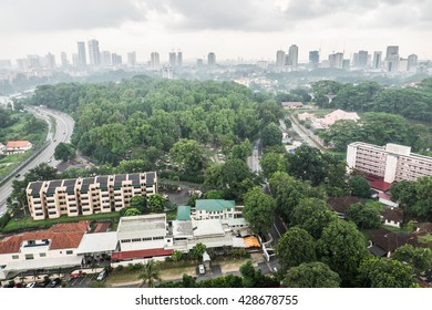 Johor Bahru/Malaysia - May 28 2016: Johor Bahru is one of the most develop city in Malaysia with the strong growth of business hub and population.