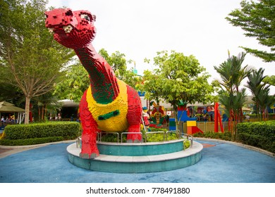 JOHOR - DEC. 2017:  Amusement park of Legoland in Malaysia.