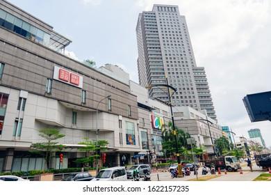 Johor, Malaysi - Jan 12,2020 : Johor Bahru city view with daily activities