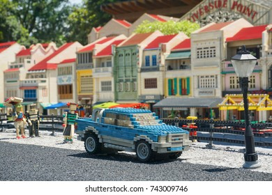 JOHOR, MALAYSIA - 17 OCTOBER, 2017 - One of the many lego set exhibits being showcased in Legoland Malaysia. Legoland Malaysia Resort is Malaysia's first international theme park and first in Asia.
