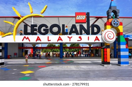 JOHOR, MALAYSIA -3 AUGUST 2015- Opened in 2012, Legoland Malaysia was the first international amusement park in Nusajaya and the first Legoland in Asia. Attractions are all Lego-themed.