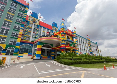 JOHOR, MALAYSIA - 3 JANUARY 2016 - Opened in 2012, Legoland Malaysia was the first international amusement park in Nusajaya and the first Legoland in Asia. Attractions are all Lego-themed.