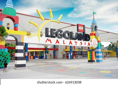 JOHOR, Malaysia.  April 20, 2017: Legoland Malaysia Resort is Malaysia's first international theme park that has opened on 2012 and the first in Asia