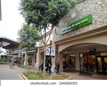 Johor, Malaysia - Feb 2017: Johor Premium Outlets (JPO) is an outlet mall in Indahpura, Kulai District, Johor Bahru, Malaysia. It is the first luxury premium brand outlet in Southeast Asia.
