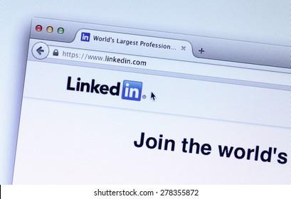 Johor, Malaysia - Mar 9, 2015: LinkedIn is a social network for the business community, Mar 9, 2015 in Johor, Malaysia.