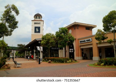Johor, Malaysia, May 2016: Johor Premium Outlet, shopping outlets that sell a collection of 130 designers and name brand.